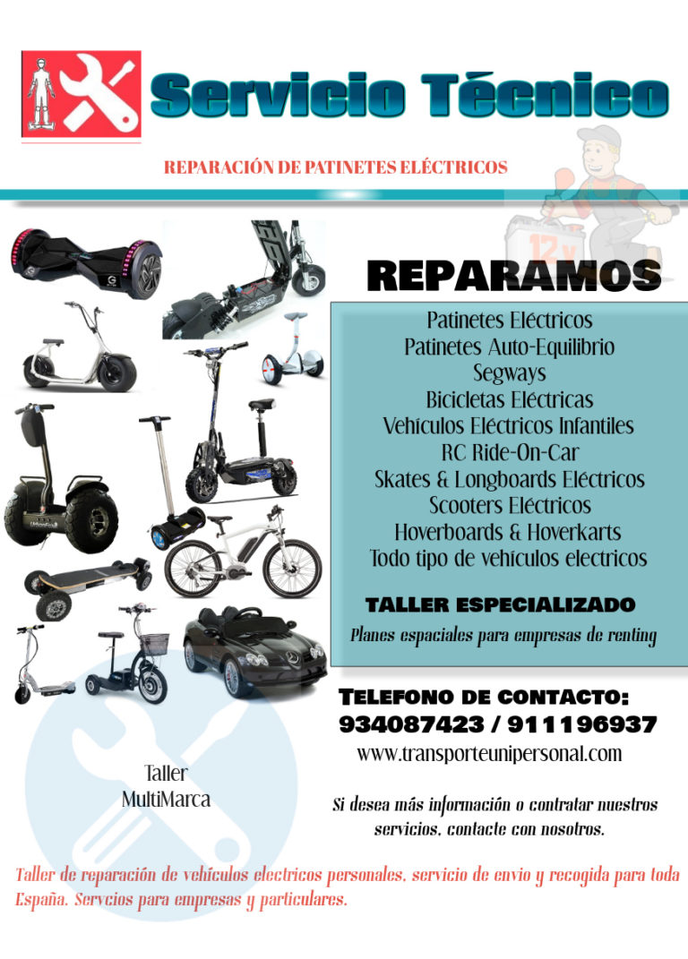 REPARACIÓN DE PATINETES ELÉCTRICOS